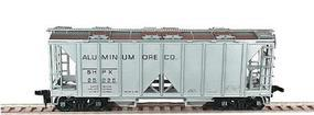 Bowser 70-Ton 2-Bay Open-Side Covered Hopper Kit HO Scale Model Train Freight Car #55683