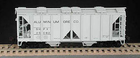 Bowser 70-Ton 2-Bay Open-Side Covered Hopper Kit HO Scale Model Train Freight Car #55686