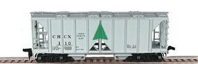 Bowser 70-Ton 2-Bay Open-Side Covered Hopper Kit HO Scale Model Train Freight Car #55837
