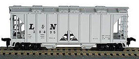 Bowser 70-Ton 2-Bay Open-Side Covered Hopper Kit HO Scale Model Train Freight Car #55867