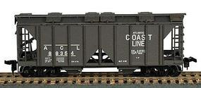 Bowser 70-Ton 2-Bay Open-Side Covered Hopper Kit HO Scale Model Train Freight Car #55874