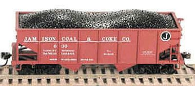 Bowser Manufacturing Co. GLa 2-Bay Hopper w/Knuckle Couplers -- Jamison Coal & Coke #720 - HO-Scale