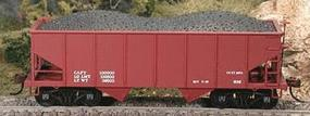 Bowser GLa 2-Bay 55-Ton Hopper Dim Data Red (D) HO Scale Model Train Freight Car #56694