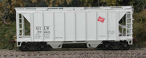 Bowser 70-Ton 2-Bay Covered Hopper Kit Milwaukee Road #99224 HO Scale Model Train Freight Car #56734