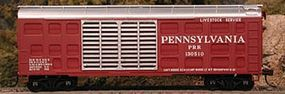 Bowser K-11 40 Stock Car Kit Pennsylvania Railroad #130513 HO Scale Model Train Freight Car #56852