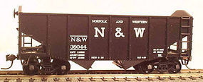 Bowser 55-Ton 2-Bay Fishbelly Hopper Kit - Norfolk & Western HO Scale Model Train Freight Car #56860