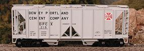 Bowser 70-Ton 2-Bay Covered Hopper Open Side Dewey Cement HO Scale Model Train Freight Car #56877