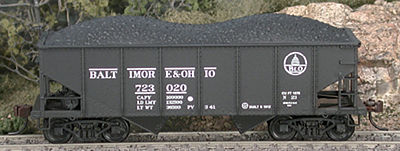 Bowser Manufacturing Co. GLa 2-Bay Hopper Baltimore & Ohio #724008 -- HO Scale Model Train Freight Car -- #56892