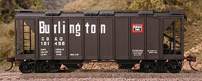 Bowser 70-Ton 2-Bay Closed Side Covered Hopper - Kit - CB&Q HO Scale Model Train Freight Car #56896