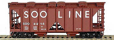 Bowser Manufacturing Co. 70-Ton 2-Bay Covered Hopper Kit Soo Line #8933 -- HO Scale Model Train Freight Car -- #56903