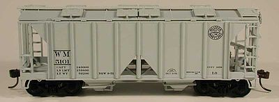 Bowser Manufacturing Co. 70 Ton 2-Bay Hopper Western Maryland #5125 -- HO Scale Model Train Freight Car -- #56947