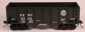 Bowser 55-Ton U Channel Hopper Pittsburgh & West Virginia HO Scale Model Train Freight Car #56953