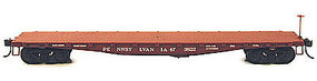 Bowser F30 Flat Car Pennsylvania w/1950s Lettering HO Scale Model Train Freight Car #56964