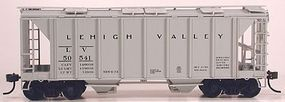 Bowser 70-Ton 2-Bay Covered Hopper Lehigh Valley #50512 HO Scale Model Train Freight Car #56979
