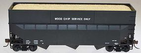 Bowser 70 ton Woodchip Hopper DATA Black HO Scale Model Train Freight Car #57013