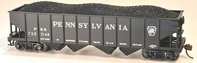 Bowser PRR H-21a 4-Bay Hopper - Kit Pennsylvania Railroad 723054 (black, Spelled-Out Name)