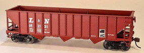 Bowser 12-Panel 3-Bay Hopper - Kit Louisville & Nashville 182131 (Boxcar Red, Large L&N)