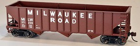 Bowser 12-Panel 3-Bay Hopper - Kit Milwaukee Road 371208 (Boxcar Red, Billboard Lettering)