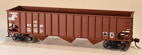 Bowser 14-Panel 3-Bay Hopper - Kit Conrail 421020 (Boxcar Red, Small Logo)