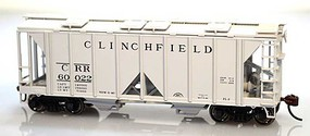 Bowser 70 ton Covered OS Hopper Clinch #60042 HO Scale Model Train Freight Car #60086