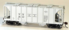 Bowser 70-Ton Covered Hopper, Closed Sides - Kit Northamption & Bath 3657 (gray)