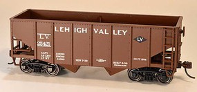 Bowser 55-Ton Fishbelly 2-Bay Hopper - Kit Lehigh Valley 25480 (Boxcar Red, Small Black Damond Logo)