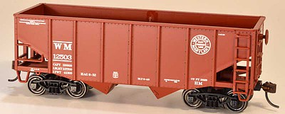 Bowser Manufacturing Co. 55-Ton Fishbelly 2-Bay Hopper - Kit -- Western Maryland 13418 (Tuscan, Speed Lettering)