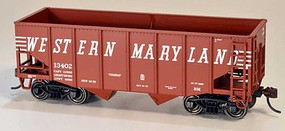 Bowser 55-Ton Fishbelly 2-Bay Hopper - Kit Western Maryland 13458 (Boxcar Red, Speed Lettering)