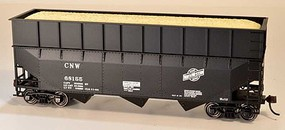 Bowser HO 70-Ton Offset 3-Bay Wood Chip Hopper w/Ribbed Extension Chicago & Northwestern #68155