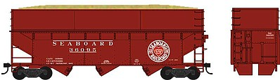 Bowser Manufacturing Co. HO 70-Ton Offset Wood Chip Smooth EXT Hopper Seaboard #36020
