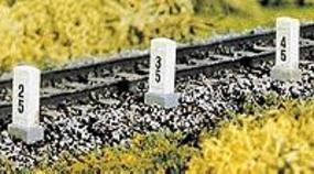 Brawa Distance/Mile Posts (10) HO Scale Model Railroad Trackside Accessory #2652