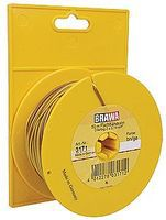 Brawa Multi-Conductor Flat Cable Hook-Up Wire - Brown/Yellow Model Railroad Hook-Up Wire #3171