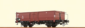Brawa DB Type Omm 52 Steel Gondola - Ready to Run German Federal Railroad DB #892 307 (Era III, Boxcar Red) - O-Scale