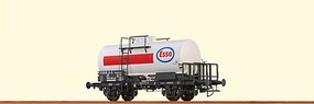 Brawa 2-Axle Tank Car - Ready to Run Esso #28 80 000 2 591-4 P (Era IV, white, red, blue) - O-Scale