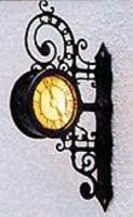 Brawa Illuminated Historic Wall Clock Baden-Baden HO Scale Model Railroad Street Light #5361