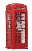 Brawa British Telephone Box HO Scale Model Railroad Building Accessory #5437