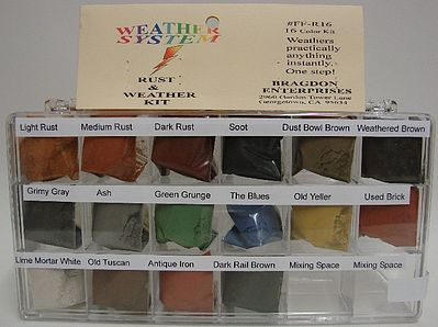 Bragdon Enterprises 1/2oz. Small 16 Color Weathering Set
