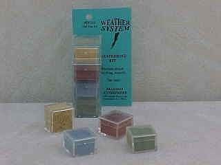 Brag 1/2oz. Small 4 Color Weathering Set (Old Yeller, Grn Grunge, the Blues & used Brick)