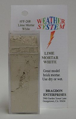 Brag 2oz. Large Weathering Color Lime Mortar White