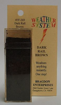 Brag 2oz. Large Weathering Color Dark Rail Brown