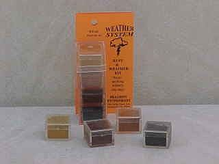Brag 1/2oz. Small 4 Color Weathering Set (Lt Rust, Med Rust, Dk Rust & Soot Blk)