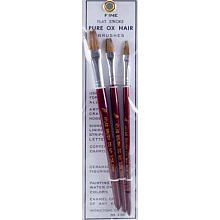 Brushes 1/4,3/8,1/2 Ox Hair Flat Stroke Brushes (3)