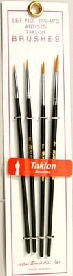 Brushes Atlas Brush #155-4PS- 00,0,1,2 Taklon Liner Brushes (4)
