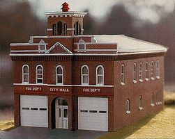 Branchline Hermann Firehouse Laser-Art Kit HO Scale Model Railroad Building #200