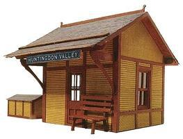 Branchline Flag Stop Station Laser-Art Laser-Cut Wood Kit O Scale Model Railroad Building #462