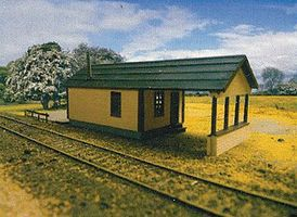 Branchline Yard Office Laser-Art Laser-Cut Wood Kit O Scale Model Railroad Building #479