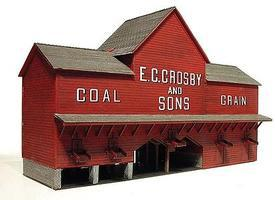 Branchline Crosby Coal Laser-Art Kit O Scale Model Railroad Building #494