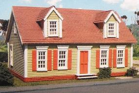 Branchline Maxwell Cape House Laser-Art Laser-Cut Wood Kit HO Scale Model Railroad Building #610