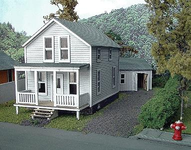 Branchline The Finley Catalog House Laser-Art Kit HO Scale Model Railroad Building #625