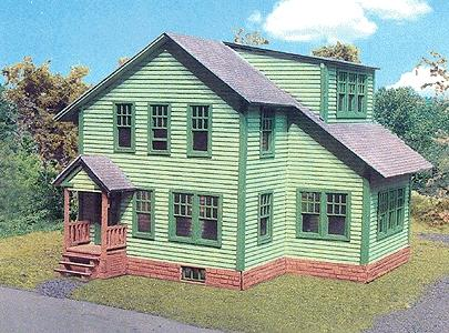 Branchline Avon House Kit (5 x 5 x 3-1/2) HO Scale Model Railroad Building #636